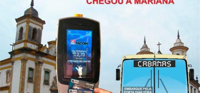 Bilhetagem eletrônica chega a Mariana