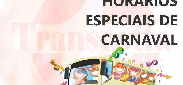 Horários especiais de carnaval – Ouro Preto e Mariana